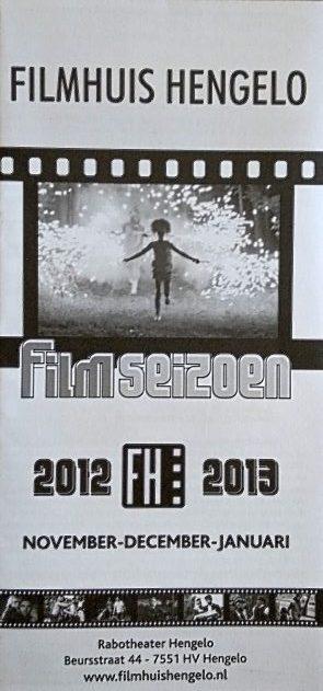 2012-2013 Filmhuis Hengelo periode 2 november - januari