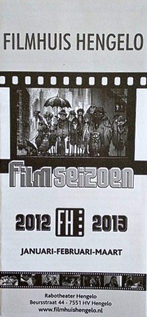 2012-2013 Filmhuis Hengelo periode 3 januari - maart
