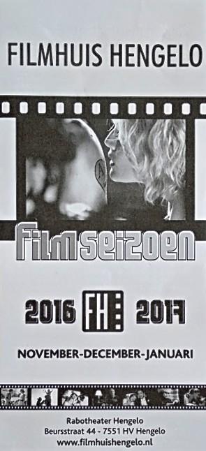2016-2017 Filmhuis Hengelo periode 2 november - januari