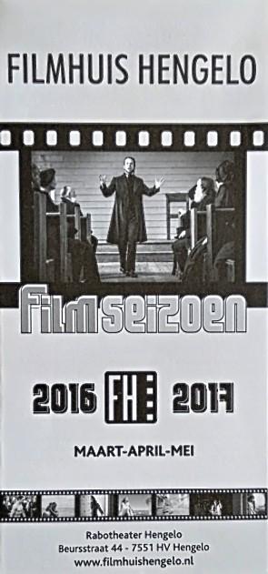 2016-2017 Filmhuis Hengelo periode 4 maart - mei
